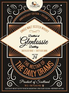 Picture of Glenlossie 24yo 1992/2016 The Nectar of the Daily Drams
