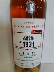 Picture of Cognac Prunier 1931 The Purist